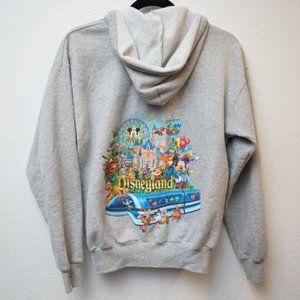 Disneyland Resort Zipper Hoodie Gray Size XL